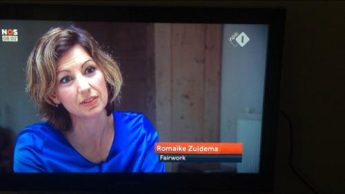 romaike zuidema op tv bij NOS journaal