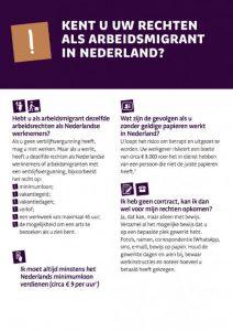 Kent u uw rechten als arbeidsmigrant in Nederland?