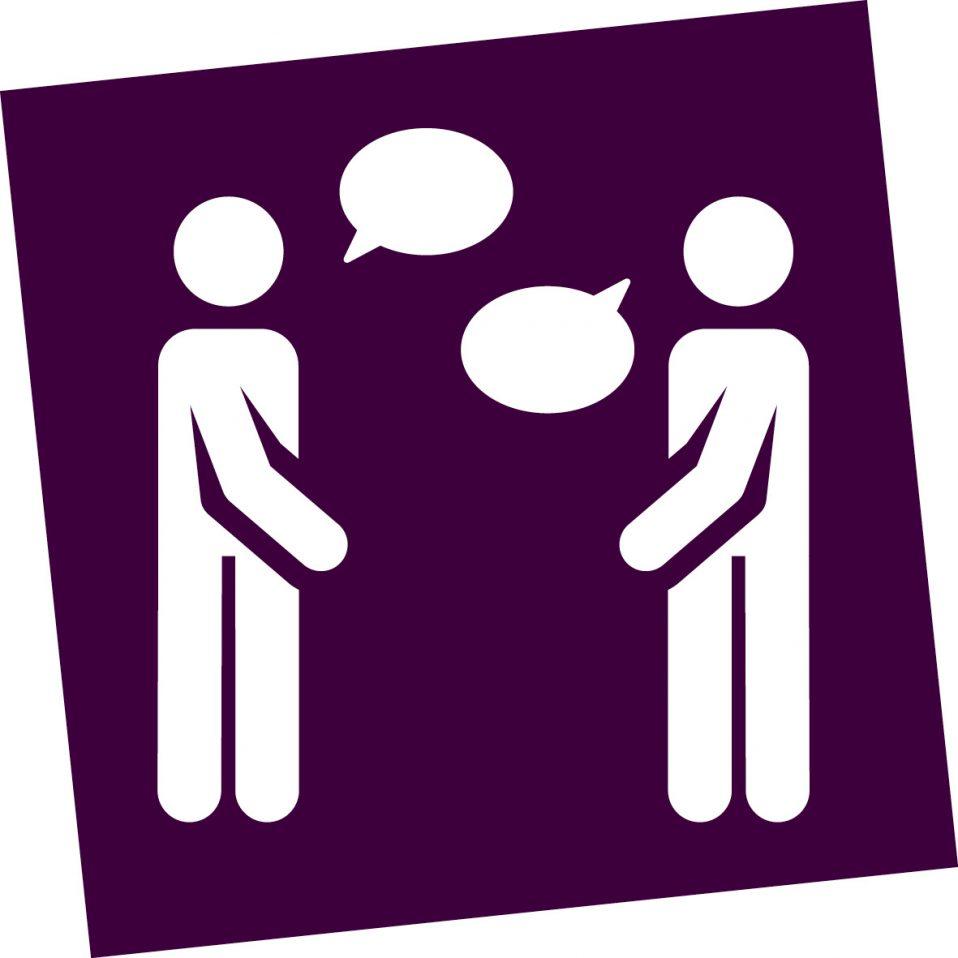 icoon mensen in gesprek
