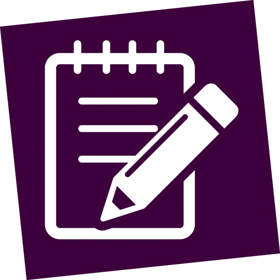 notitieblok met pen icoon