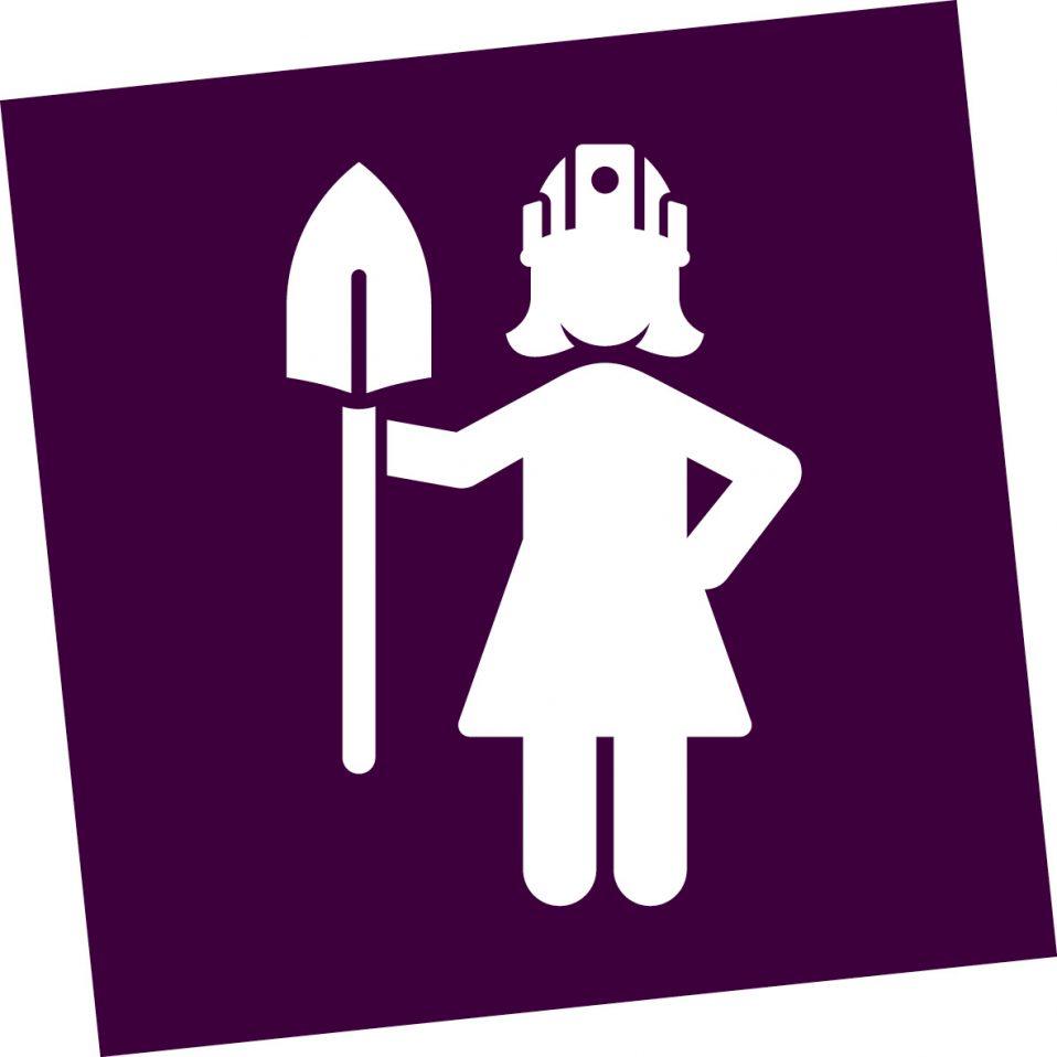 vrouw met schep icoon